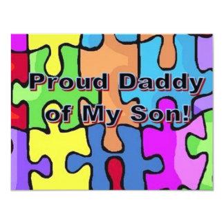 Proud Daddy of My Son! 11 Cm X 14 Cm Invitation Card