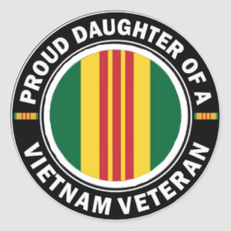 Proud Daughter of a Vietnam Vet Stickers