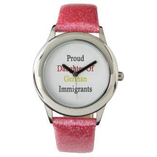 Proud Daughter Of German Immigrants Wrist Watches