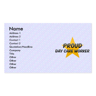 Proud Day Care Worker Business Card Template