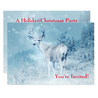 Proud Deer Standing in the Wild -  Christmas Party Card