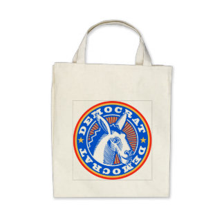 Proud Democrat  Grocery Bag