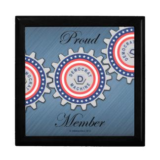 Proud Democrat Machine Member Large Square Gift Box