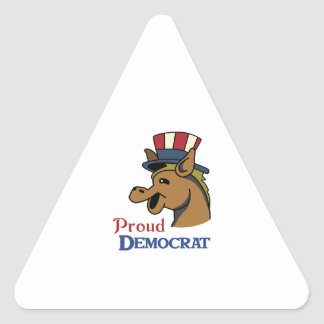 PROUD DEMOCRAT TRIANGLE STICKER