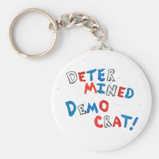 Proud democrats fun unique determined democrat key ring