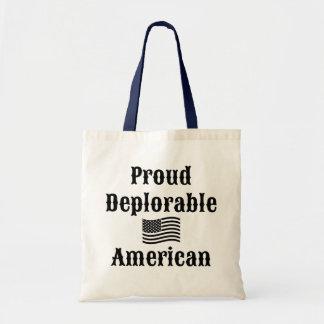 Proud Deplorable American Budget Tote Bag