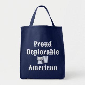 Proud Deplorable American Grocery Tote Bag