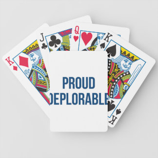 Proud Deplorable - Donald Trump - Republican Bicycle Playing Cards