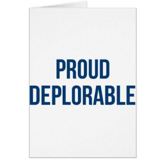 Proud Deplorable - Donald Trump - Republican Card