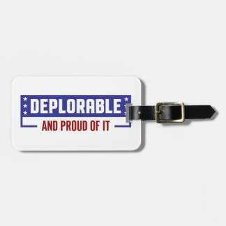 Proud Deplorable Luggage Tag