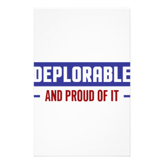 Proud Deplorable Stationery