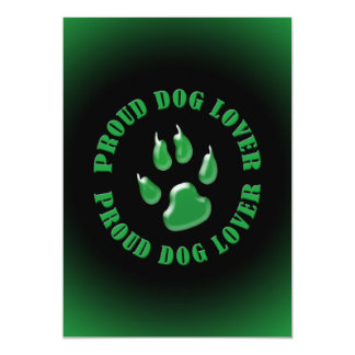 Proud Dog Lover Personalized Invitations