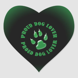 Proud Dog Lover Heart Stickers