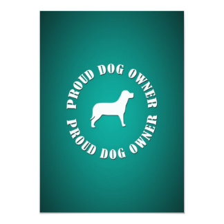 Proud Dog Owner Personalized Invites