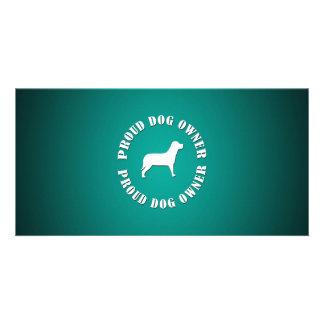 Proud Dog Owner Custom Photo Card