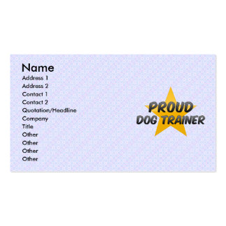 Proud Dog Trainer Pack Of Standard Business Cards