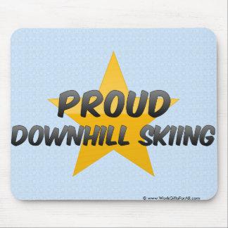 Proud Downhill Skiing Mousepad