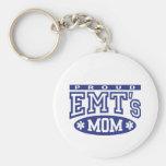 Proud EMT's Mum Basic Round Button Key Ring