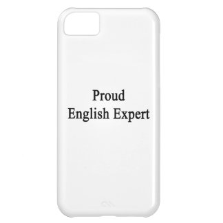 Proud English Expert Cover For iPhone 5C