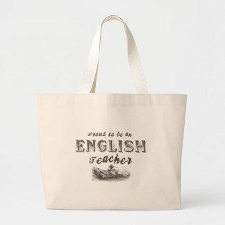 Proud English Teacher Victorian Jumbo Tote Bag