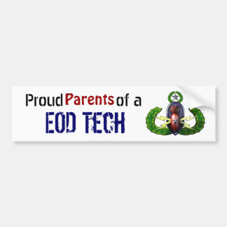 Proud, EOD Tech, Parents Bumper Sticker