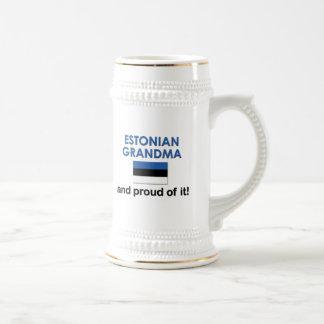 Proud Estonian Grandma Beer Steins