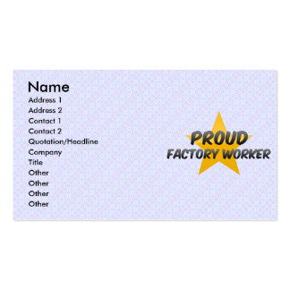 Proud Factory Worker Business Card