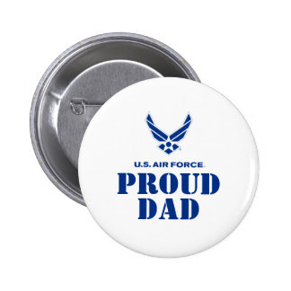 Proud Family – Small Air Force Logo & Name 6 Cm Round Badge