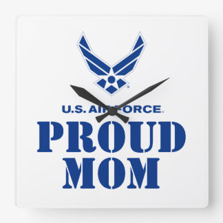 Proud Family – Small Air Force Logo & Name Clock