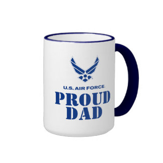 Proud Family – Small Air Force Logo & Name Mug