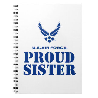 Proud Family – Small Air Force Logo & Name Notebooks