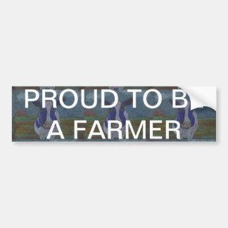 Proud Farmer Dairy Cow Bumper Sticker