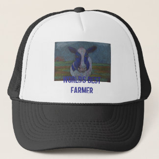 Proud Farmer Dairy Cow Trucker Hat