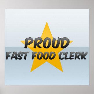 Proud Fast Food Clerk Poster
