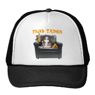 """Proud Father"" Cats Trucker Hat"