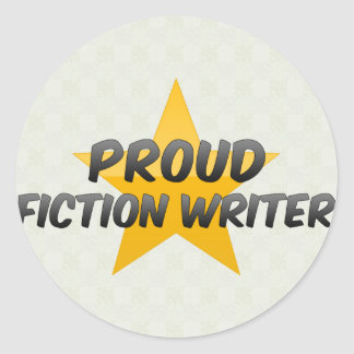 Proud Fiction Writer Round Stickers