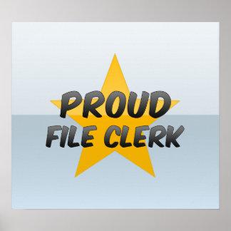 Proud File Clerk Poster