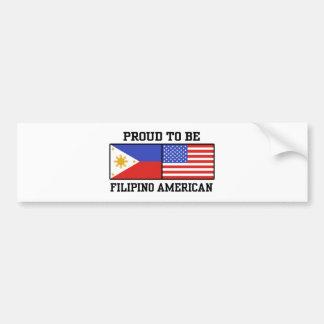 Proud Filipino American Bumper Sticker