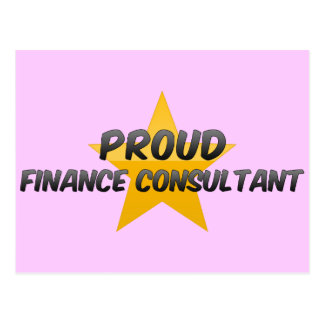 Proud Finance Consultant Postcards