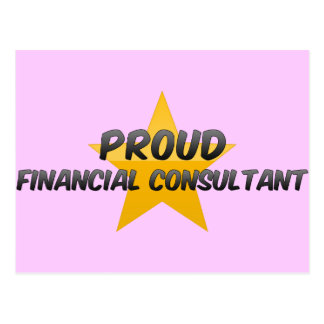 Proud Financial Consultant Post Card
