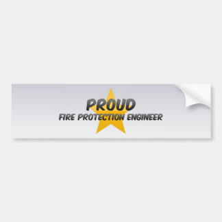 Proud Fire Protection Engineer Bumper Sticker