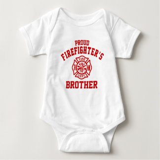 Proud Firefighter's Brother Baby Bodysuit