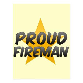 Proud Fireman Postcard