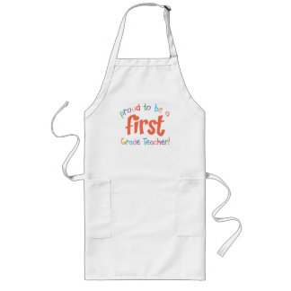 Proud First Grade Teacher BBQ Apron