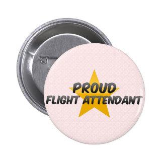 Proud Flight Attendant 6 Cm Round Badge