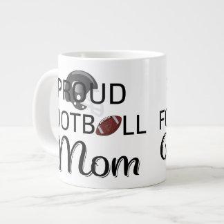Proud Football Mom Jumbo Mug