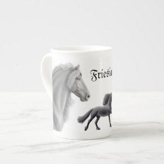 Proud Friesian Horse Customizable Bone China Mug