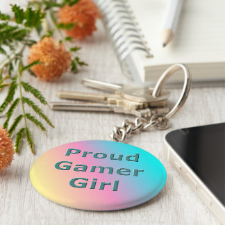 Proud Gamer Girl Keychain