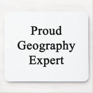 Proud Geography Expert Mouse Pad