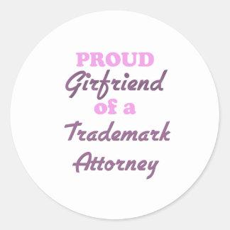 Proud Girlfriend of a Trademark Attorney Round Stickers